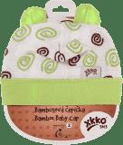 KIKKO Bambusová dětská čepička Spirals vel. 3 - lime