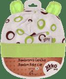 KIKKO Bambusová dětská čepička Bubbles vel. 3 - lime