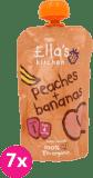 7x ELLA'S Kitchen, Broskev a banán 120g