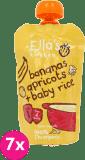 7x ELLA'S Kitchen, Dětská rýže - Banán a meruňka 120g