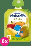 6x NESTLÉ Naturnes 4 ovocia (90 g) – ovocná kapsička