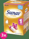 3x SUNAR Complex 1 (600 g) – kojenecké mléko