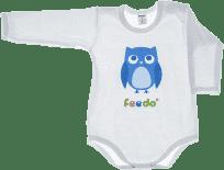 FEEDO dětské body SOVA (modrá), vel. 68 (FEEDO klub)