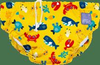 BAMBINO MIO Kalhotková koupací plena Deep Sea Yellow vel.S (5-7 kg)