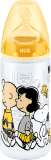 NUK Láhev First Choice+ Snoopy, PP 300 ml, silikon (6-18 m), M – žlutá