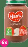 6x HAMI S jahodami (200 g) - ovocný príkrm