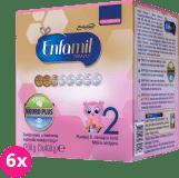 6x ENFAMIL Premium 2 (1200g) Mleko następne od 6. do 12. miesiąca