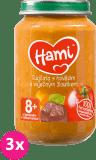 3x HAMI Paradajky s hovädzím a vaječným žĺtkom (200 g) - mäsovo-zeleninový príkrm