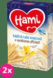 2x HAMI Kaša na dobrú noc, krupicová s príchuťou vanilky (225 g) - mliečna kaša