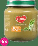 6x HAMI Zelený hrášok 125 g - zeleninový príkrm