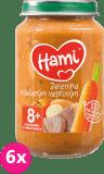 6x HAMI Mrkva, zemiaky, bravčové stehno 200 g - mäsovo-zeleninový príkrm