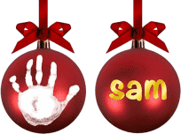 PEARHEAD Vianočná ozdoba s odtlačkom
