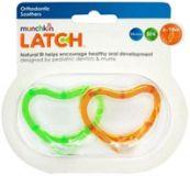 MUNCHKIN Latch Silikonový dudlík 6m+, 2 ks, zeleno-oranžová