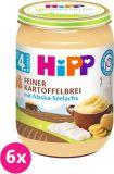 6x HIPP Jemná bezlepková bramborová kaše s aljašskou treskou, 190 g - maso-zeleninový příkrm