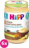 6x HIPP BIO Jemná bezlepková bramborová kaše s mrkví a hovězím masem, 220 g - maso-zeleninový příkrm