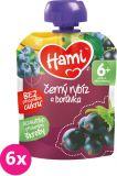 6x HAMI Kapsička čierna ríbezľa a čučoriedka 90 g - ovocný príkrm