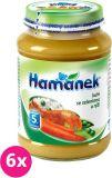6x HAMÁNEK Kuře se zeleninou a rýží (190 g) - masozeleninový příkrm