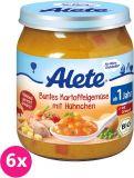 6x ALETE BIO Zelenina s bramborem a kuřecím masem 250 g – masozeleninový příkrm
