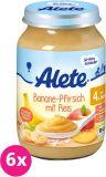 6x ALETE BIO Banán s broskví a rýží 190 g – ovocný příkrm