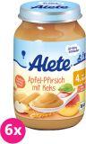 6x ALETE BIO Jablko s broskví a sušenkami 190 g – ovocný příkrm