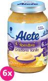 6x ALETE BIO Kaše večerní semolinová s vanilkovou příchutí 190 g – mléčná kaše