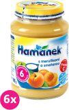 6x HAMÁNEK Kojenecká výživa ovocná Svačinka s meruňkou a smetanou, (190 g) - ovocný příkrm