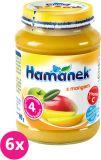 6x HAMÁNEK S mangem, (190 g) - ovocný příkrm