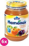6x HAMÁNEK S meruňkami a švestkami, (190 g) - ovocný příkrm
