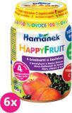 6x HAMÁNEK HappyFruit 100% S broskvemi a bezinkou - ovocný příkrm