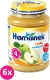 6x HAMÁNEK S jablky neslazeno DIA (180 g) - ovocný příkrm