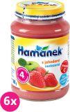 6x HAMÁNEK S jahodami neslazeno DIA (180 g) - ovocný příkrm