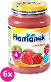 6x HAMÁNEK S jahodami (190 g) - ovocný příkrm