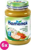 6x HAMÁNEK Krůta s gratinovanou zeleninou a rýží (190 g) - maso-zeleninový příkrm