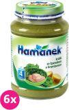 6x HAMÁNEK Králík se špenátem a bramborem (190 g) - maso-zeleninový příkrm