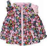 BOBOLI Oboustranná zimní bunda, vel. 80 - růžová/potisk, holka
