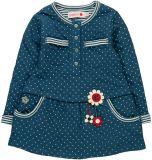 BOBOLI Šaty s aplikací dlouhý rukáv, vel. 104 - modrá, holka