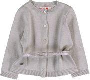 BOBOLI Propínací svetr s páskem, vel. 92 - stříbrná, holka