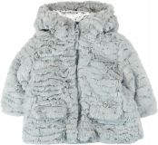 BOBOLI Zimní kožíšek, vel. 74 - stříbrná, holka