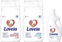 LOVELA Biel 5 kg (40 prań) – proszek do prania + LOVELA Kolor 5 kg (40 prań) – proszek do prania + L