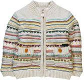 BOBOLI Teplý svetr na zip 74cm kluk - béžová