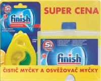 FINISH Płyn do czyszczenia zmywarki Lemon 250 ml + DEO Lemon