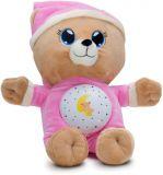 TEDDIES Medvedík Uspávačik ružový plyš 32 cm so svetlom a zvukom