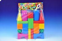 TEDDIES Stavebnice kostky velké 18 ks plast v sáčku 40x53x8 cm