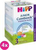 4x HIPP 3 JUNIOR Combiotik (900 g) - dojčenské mlieko