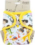 PETIT LULU Svrchní kalhotky patentky - Abeceda zvířátek