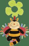 K´S KIDS Hračka na kočík - naťahovacia bzučiaca včielka v displeji