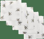Libštátské pleny Dětská bavlněná plena, 70x70 cm, potisk, 5ks, Medvídek v modrém