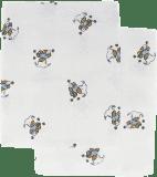 Libštátské pleny Dětská bavlněná plena/osuška, 90x100 cm, potisk, 2 ks, Medvídek v modrém