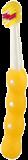 MAM Zubní kartáček First Brush, 6+ měsíců – žlutý