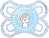 MAM Dudlík Perfect silikon (0-6m) – světle modrá – náhodný motiv